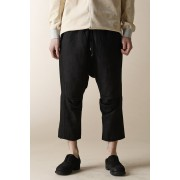 UNISEX WOVEN CROPPED EASY PANTS-Black-2