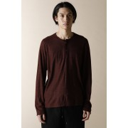 HENRY NECK LONG SLEEVE T-SHIRTS BORDEAUX-Bordeaux-2