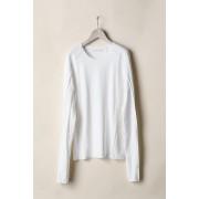 BASIC LONG SLEEVE T-SHIRTS  -White-White-2