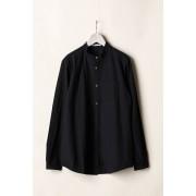 MAO COLLAR SHIRTS-Black-2
