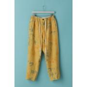 UNISEX WOVEN WIDE PANTS - LI18-Mottled Orange-0