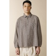WIDE SHIRTS-Brown Yellow-2