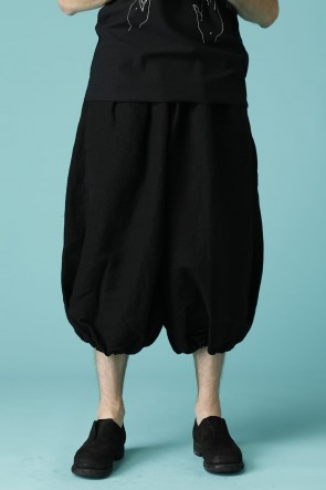 individual sentiments 18-19AW UNISEX WOVEN BALLOON PANTS BLACK