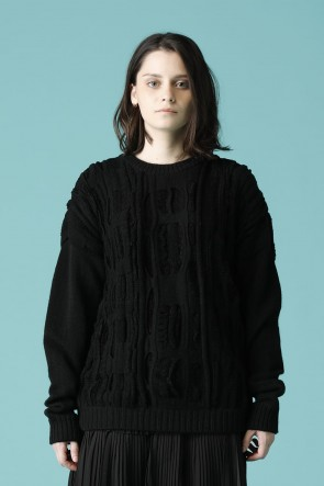 individual sentiments16-17AWUNISEX PULL OVER JAQUARD KNIT BLACK