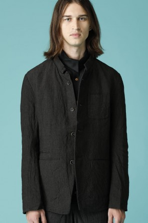 individual sentiments17SSUNISEX WOVEN STAND COLLAR BASIC BUTTON DOWN JACKET