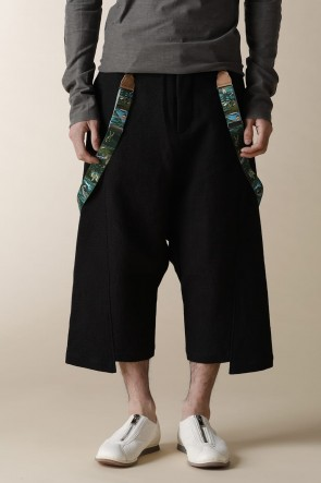 individual sentiments 17-18AW UNISEX WOVEN LOW CLOTCH CROPPED PANTS