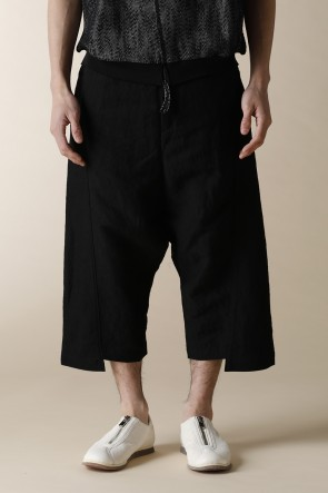 individual sentiments 17SS UNISEX WOVEN LOW CLOTCH CROPPED PANTS