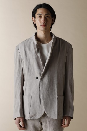 individual sentiments14SSUNISEX BASIC STAND COLLAR ONE BUTTON JACKET
