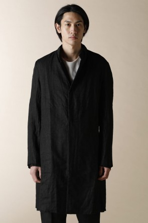 individual sentiments14SSUNISEX WOVEN ONE BUTTON LONG COAT
