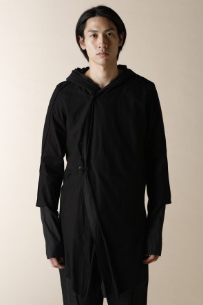 individual sentiments14SSUNISEX WOVEN LAYERED HOODIE CARDIGAN