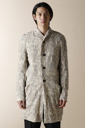 individual sentiments 20SS UNISEX WOVEN SHAWL COLLAR  COAT