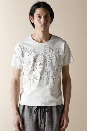 individual sentiments18SSUNISEX WOVEN FLAT PRINTED T-SHIRTS