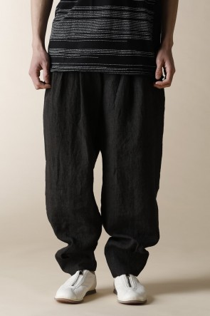 individual sentiments 18SS UNISEX WOVEN HIGH WAIST OVER SIZE PANTS