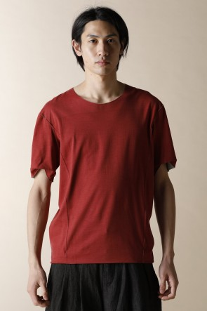 individual sentiments 15SS UNISEX WOVEN BASIC T-SHIRTS CARNIVAL RED
