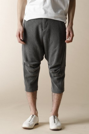 individual sentiments 16-17AW UNISEX WOVEN CROPPED PANTS Sumi Gray