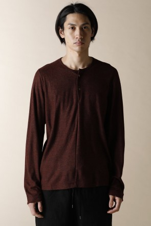 individual sentiments17-18AWHENRY NECK LONG SLEEVE T-SHIRTS BORDEAUX