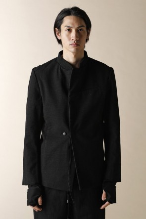 individual sentiments12-13AWUNISEX WOVEN ONE BUTTON JACKET