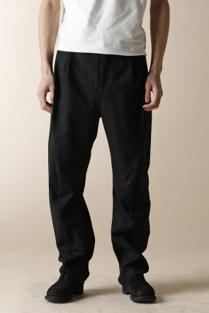 individual sentiments 16-17AW MEN'S WOVEN SOLID WIDE PANTS