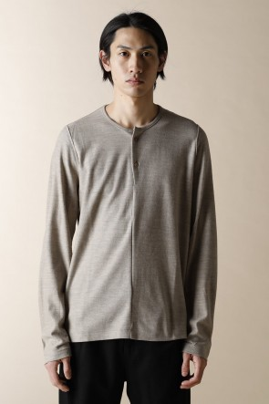 individual sentiments17-18AWHENRY NECK LONG SLEEVE T-SHIRTS BEIGE