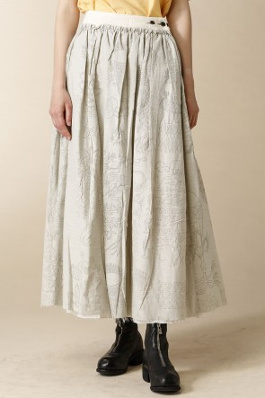 individual sentiments 17SS WOMEN'S WOVEN LAYERED LONG SKIRT