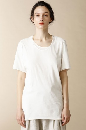 individual sentiments17SSUNISEX WOVEN LAYERED T-SHIRTS White