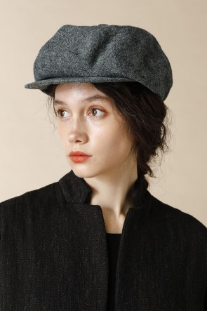 individual sentiments17-18AWUNISEX WOVEN CASQUETTE CYAN BLACK