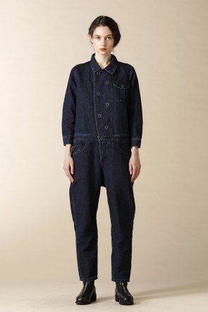 individual sentiments 17SS UNISEX WOVEN COVERALL DENIM INDIGO BLUE