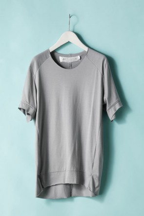 individual sentiments 21SS UNISEX WOVEN TUCK DARTS S/S T-SHIRT - LJ43 Gray