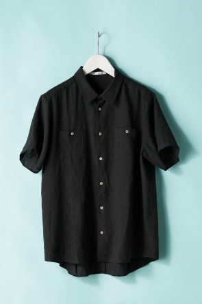 individual sentiments 21SS UNISEX WOVEN SHORT SLEEVE WIDE SHIRTS - LI12