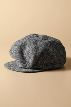 individual sentiments17-18AWUNISEX WOVEN CASQUETTE GRAY BLACK